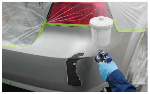 painting a bumper